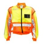 LIME/ORANGE TRAFFIC REFLECTIVE VEST, 100% POLYESTER TRICOT, DETACHABLE SLEEVE MOQ 20
