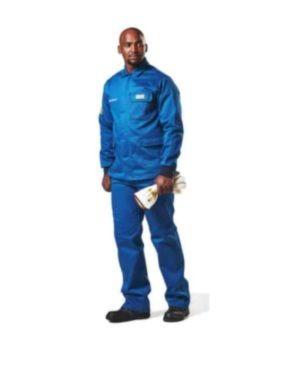 DROMEX SKY BLUE ELECTRIC 25CAL ARC PANTS – ISO, NFPA & ASTM-F MOQ 1