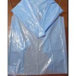 PLASTIC 25 MICRONS LONG SLEEVE BLUE APRONS MOQ 100