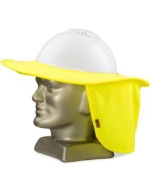 SUN BRIM FOR HARD HATS WITH NECK PROTECTOR LIME OR ORANGE MOQ 50