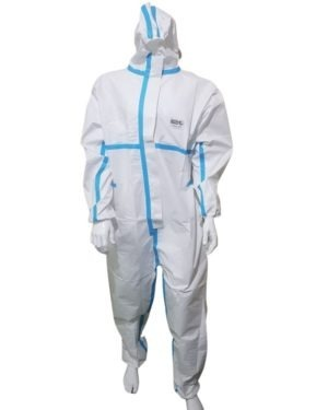 Promax 1000 Medical Coverall Certified En 14126:2003 – With Blue Stripes