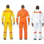 100% COTTON D59 270gsm SABS MARKED MINING BOILER SUIT white, yellow or orange MOQ 15
