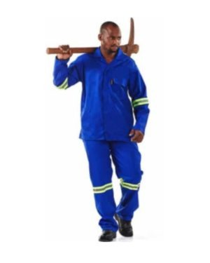 D59 270gsm 100% COTTON CONTI PANTS WITH REFLECTIVE TAPE – ROYAL BLUE MOQ 10