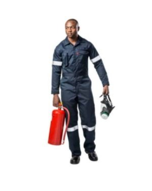 INHERENTLY FLAME RETARDANT WILDLAND NAVY BLUE BOILER SUITS – NFPA & ASTM-F NOMEX Navy Blue BOILER SUITS with reflective, PRICE VARY PER SIZE MOQ 1