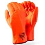 FREEZER GLOVES – TEXTURED GRIP – FOUR LAYERS OF PROTECTION – ORANGE HI-VISIBILITY Orange PVC Freezer, Gauntlet, 30cm MOQ