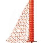 HDPE ORANGE barrier fence, 100x40mm holes, 50M roll, 1.2 metre high MOQ 1