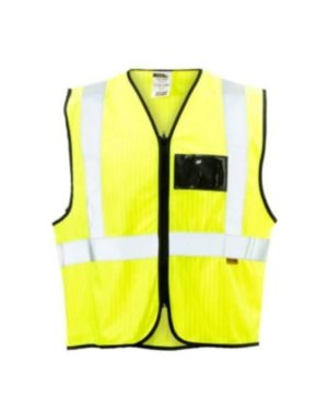 LIME ANTI STATIC & FLAME RETARDANT REFLECTIVE JACKETS WITH FLAME RETARDANT TAPE MOQ 12