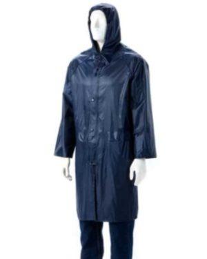 NAVY BLUE RUBBERIZED RAIN SUITS, HOOD, ZIP & STORM FLAP Small to 4XL MOQ 20