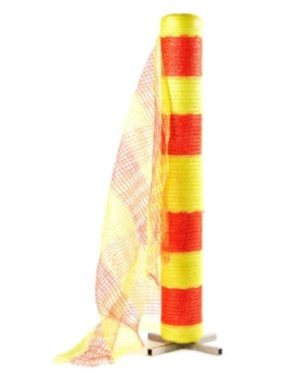 WOVEN ORANGE & YELLOW barrier fence, 50M roll, 1.0 metr high MOQ 1