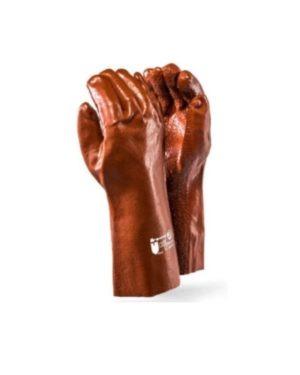 DROMEX XTRA BROWN PVC ROUGH FINISH GLOVES 35cm elbow MOQ 12