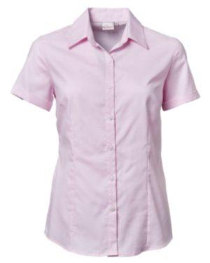 Ladies Oxford S/S Blouse- Price Vary Per Size