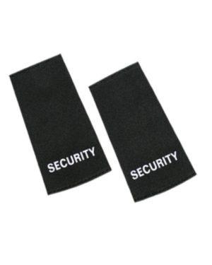 """Javlin Navy / Black / Cedar Epaulettes Soft Printed """"Security """""""