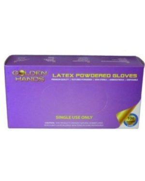 LATEX POWDERED – GOLDEN HANDS BOX OF 100 – MOQ 10