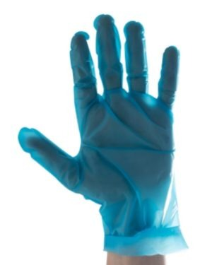 TPE BLUE EXAMINATION, POWDER FREE, BOX OF 100 GLOVES