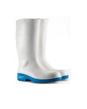 P2002 WAYNE POLYURETHANE BOOTS – WHITE UPPER WITH BLUE SOLE STC & MIDSOLE