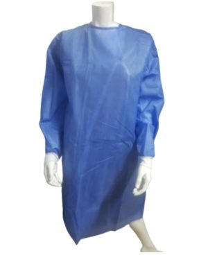 AAMI LEVEL 2, ISOLATION REINFORCED GOWN 50GSM, BLUE SANS 53795:2015 APPROVED