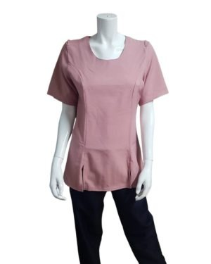 B68 – ROUND NECK TUNIC WITH 2 SLITS
