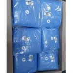 Blue Isolation Gowns 50Gsm, White Cuffs (Clear Packaging) – Buy In Bulk And Save