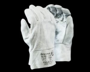 CHROME LEATHER DOUBLE PALM GLOVES